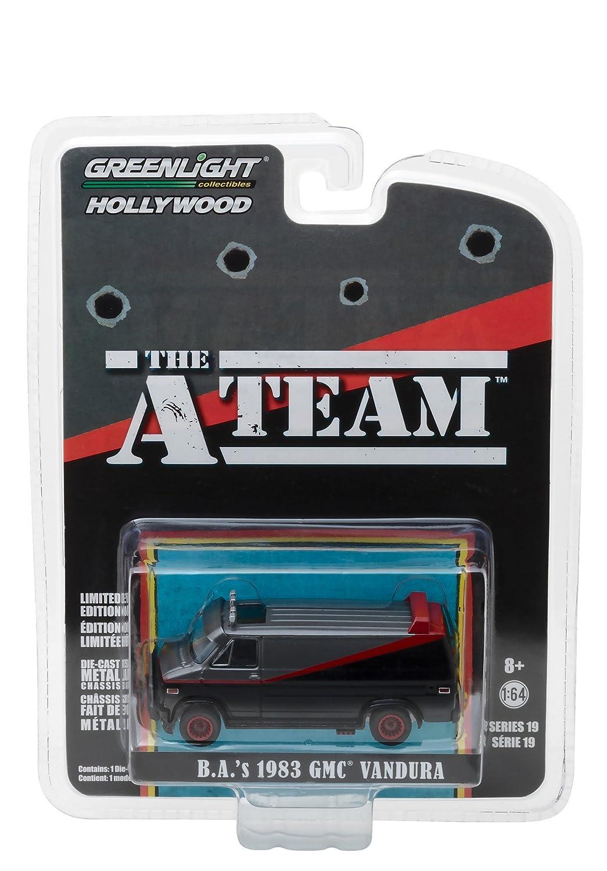 A-TEAM Modelo DieCast Furgoneta GMC VANDURA 1983 de B.A BARACUS Escala 1//64 ORIGINAL Greenlight