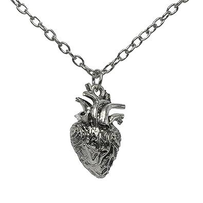 Amazon.com: Anatomical Full 3D Human Heart Necklace Anatomic Heart ...