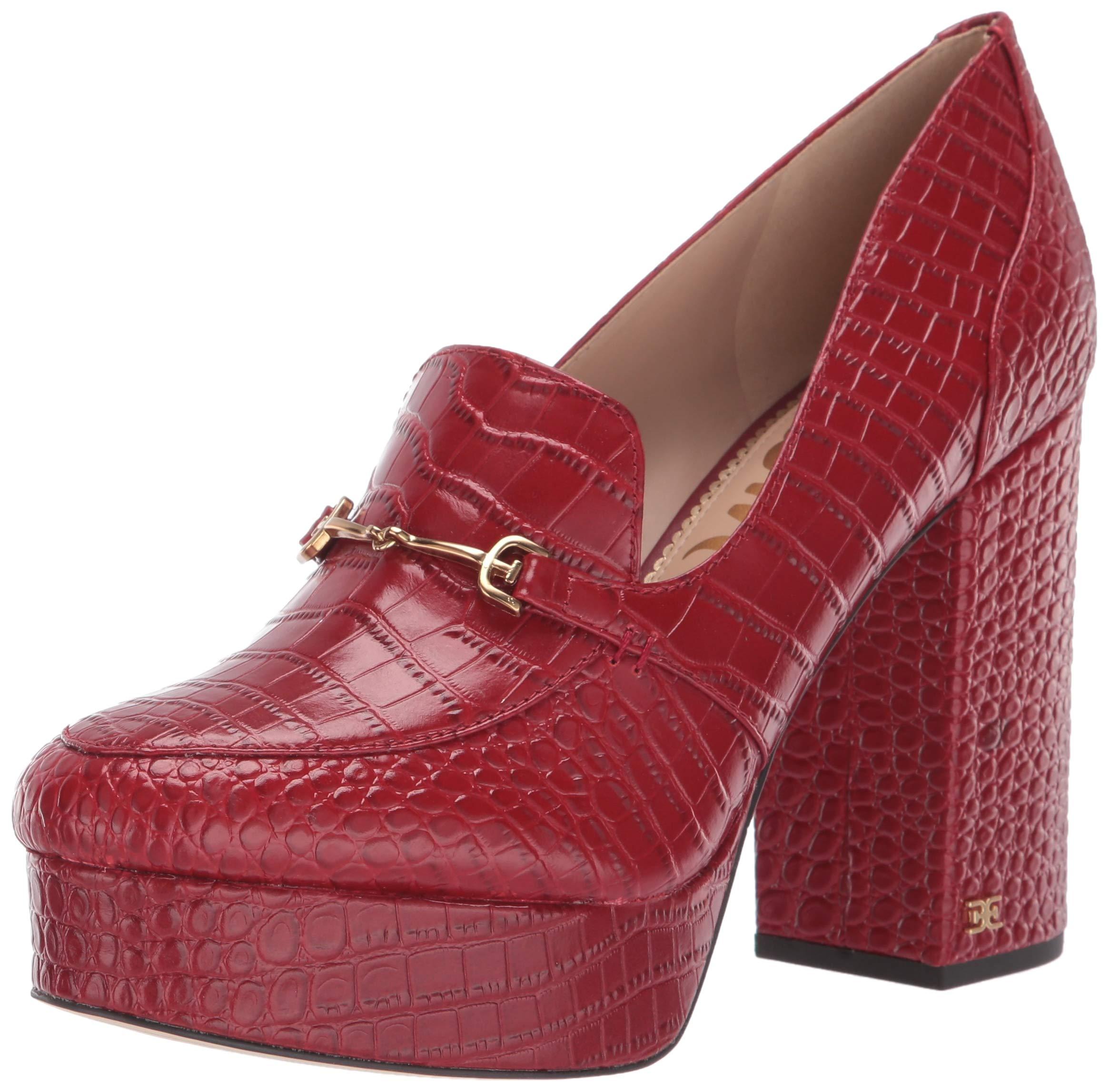 Sam Edelman Womens Aretha Spiced Mahogany Kenya Croco Leather 6.5 M by Sam Edelman