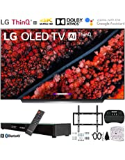 """$1596 Get LG OLED55C9PUA 55"""" C9 4K HDR Smart OLED TV w/AI ThinQ (2019) w/Soundbar Bundle Includes, Deco Gear Home Theater Surround Sound 31"""" Soundbar, Flat Wall Mount Kit for 45-90 inch TVs and More"""