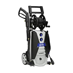 AR Blue Clean AR390SS 2000 psi Electric Pressure Washer with Spray Gun Wand 30 Hose & 35 Power Cord Blue