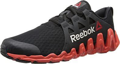 Reebok Zigtech Big and Quick - Zapatillas de Running para Hombre, Negro (Black/China Red/White), 42 EU: Amazon.es: Zapatos y complementos