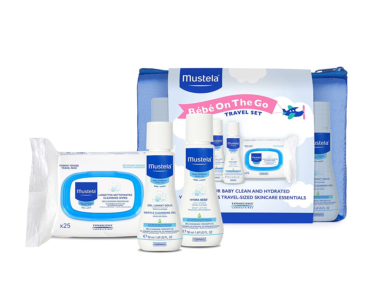 Amazon.com: Mustela Bebe On the Go Gift Set, Baby Skin Care & Baby Bath Products, Travel Size, 3 Items: Luxury Beauty