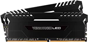Corsair - Vengeance 2-Pack 8GB PC4-19200 DDR4 DIMM Unbuffered Non-ECC Desktop Memory Kit - Black (CMU16GX4M2A2400C16)