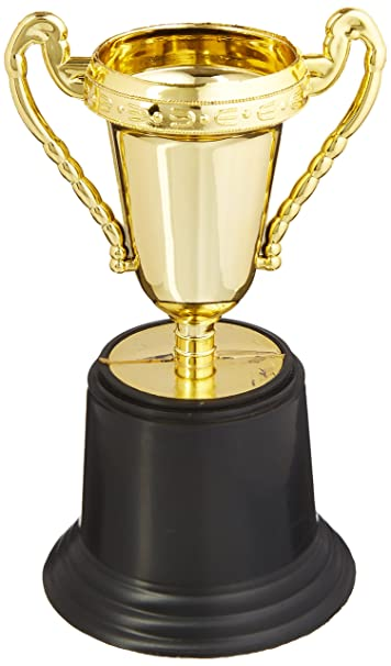 RINCO Educational Products 5quot Plastic Gold Trophy