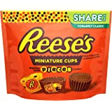 REESE'S Chocolate Peanut Butter Cup Candy with PIECES, Miniatures, 10.2 oz Bag
