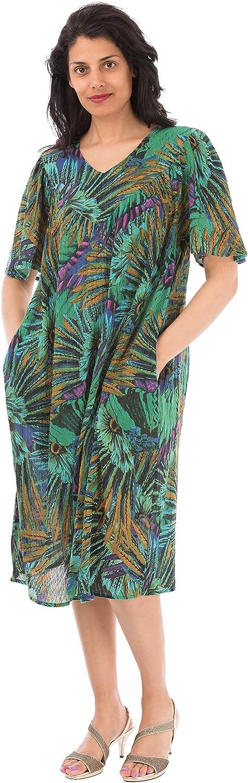 Sante Classics Womens Cotton Crinkle Dress Charo Black Plus