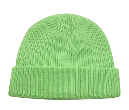 0678ed2fdec Decentron Classic Men s Warm Winter Hats Thick Knit Cuff Beanie Cap Daily Beanie  Hat (Green