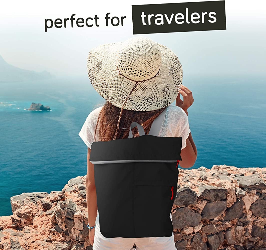 Flip and Tumble Shopping Backpack for Men and Women Lightweight Foldable Backpack Travel Reusable Bag