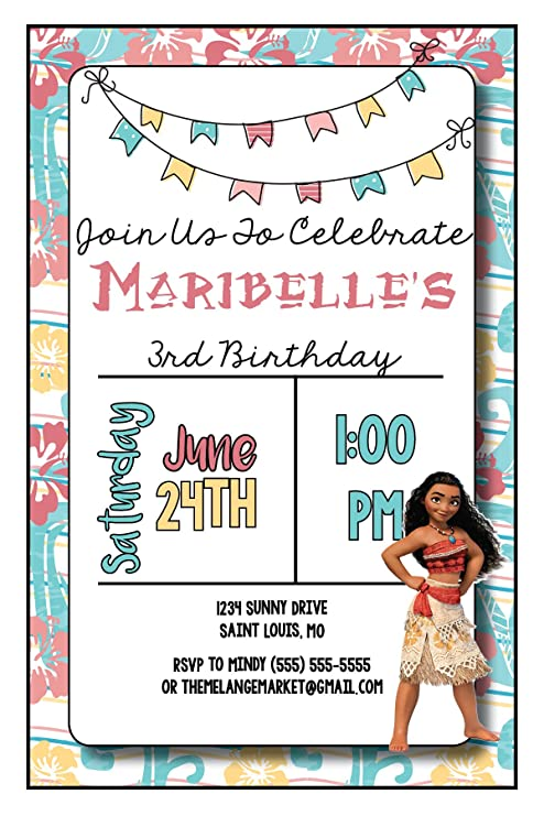 Amazon The Melange Market Custom Birthday Party Invitation