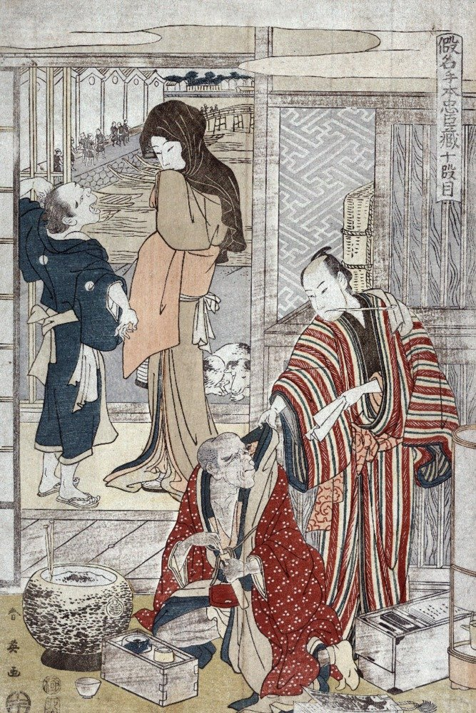ActKanadehonの(忠臣蔵) Japanese木材カット印刷 24 x 36 Giclee Print LANT-21435-24x36 B017ZK5B2Y  24 x 36 Giclee Print