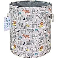 LANGYASHAN Laundry Basket Canvas Collapsible Organizer Storage Basket for Boys Girls Laundry Hamper Toy Bins Gift…