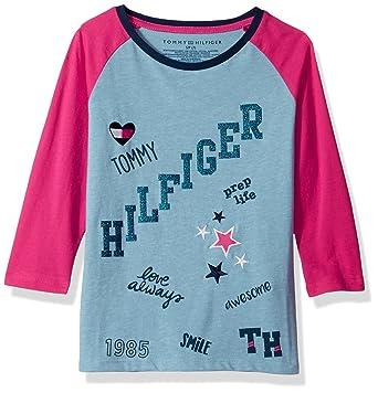 c1aba3c87 Tommy Hilfiger Girls' Big Love Always Tee, Heathered rain, Small