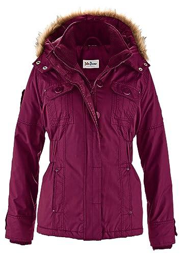 Cómoda chaqueta de abrigo con capucha desmontable bordeada