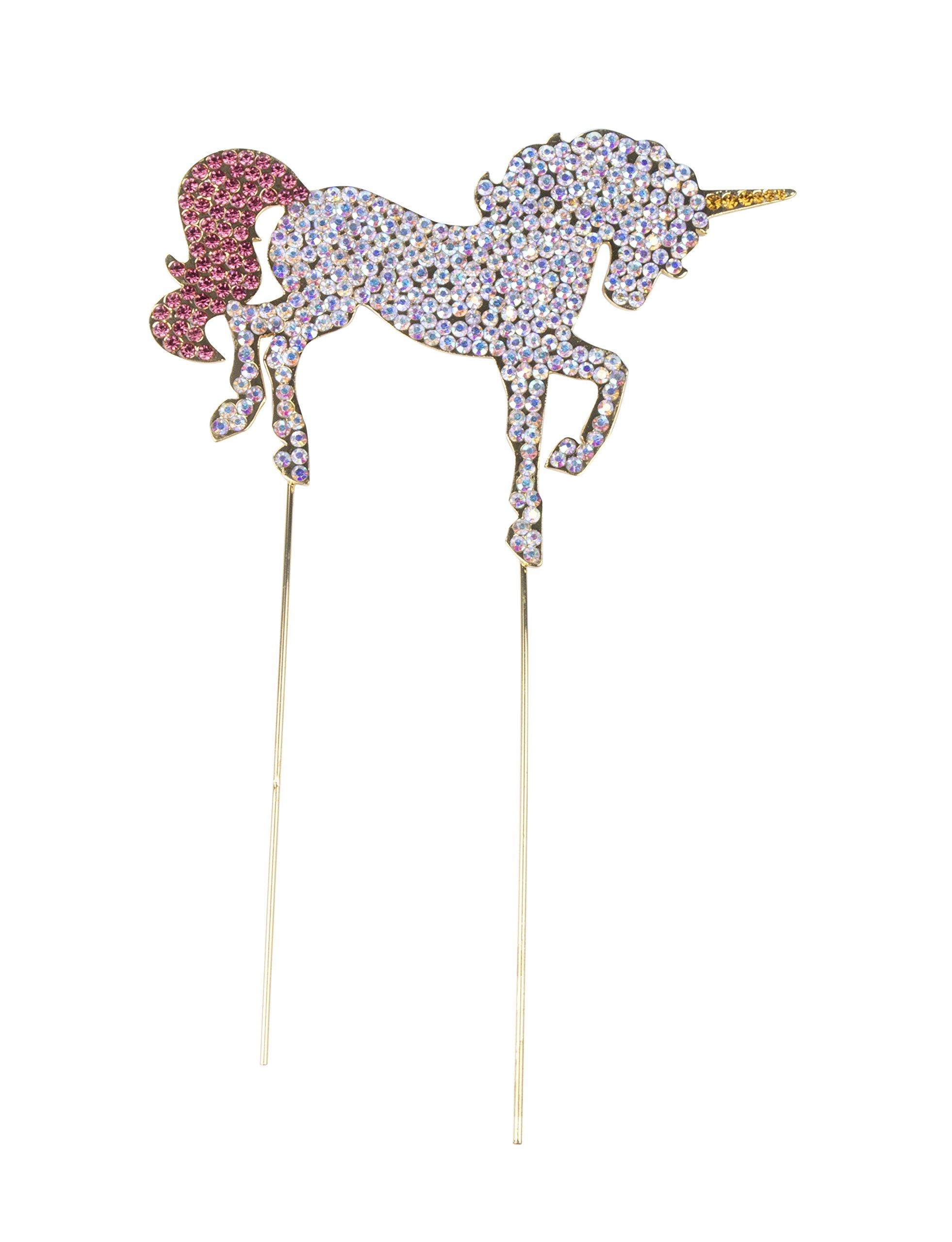 Unicorn Cake Topper - Cake Decoration, Rhinestone Cake Topper for Birthday, Girls Party, Bridal Shower, Baby Shower, Unicorn Design