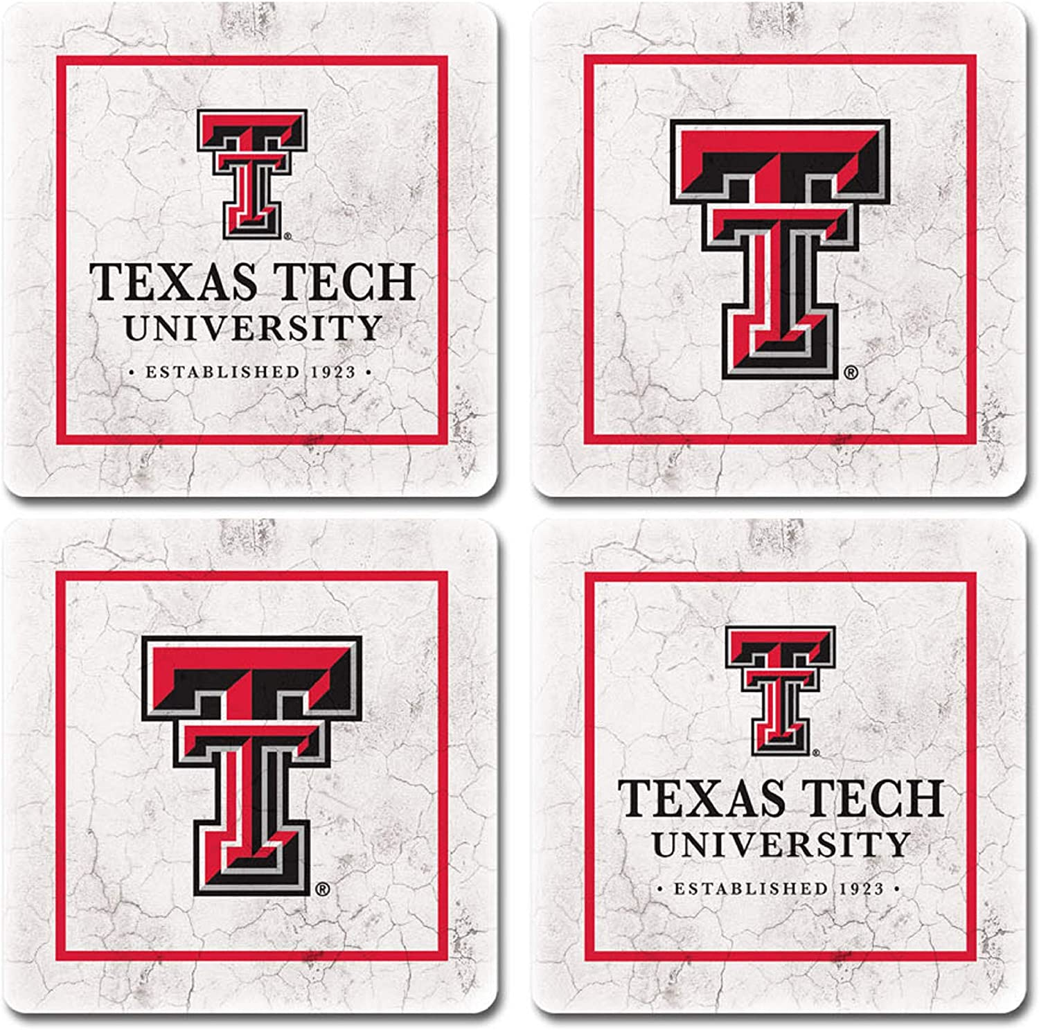 LEAGUE/&CO NCAA Unisex-Adult Thirsty Coaster 4-Pack