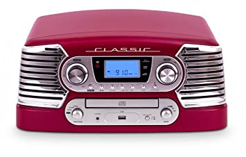 BigBen TD80RM+BLIS - Tocadiscos con CD, USB, MP3, WMA + pack ...