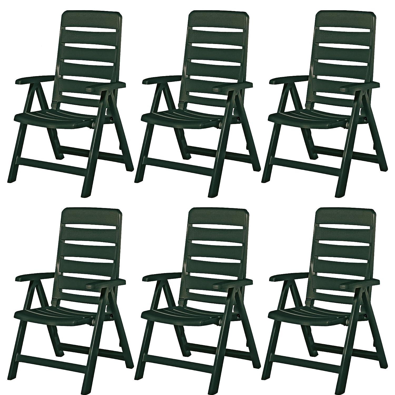 6 Kettler Nizza Gartenstühle Sessel Gartenmöbel Klappsessel in grün