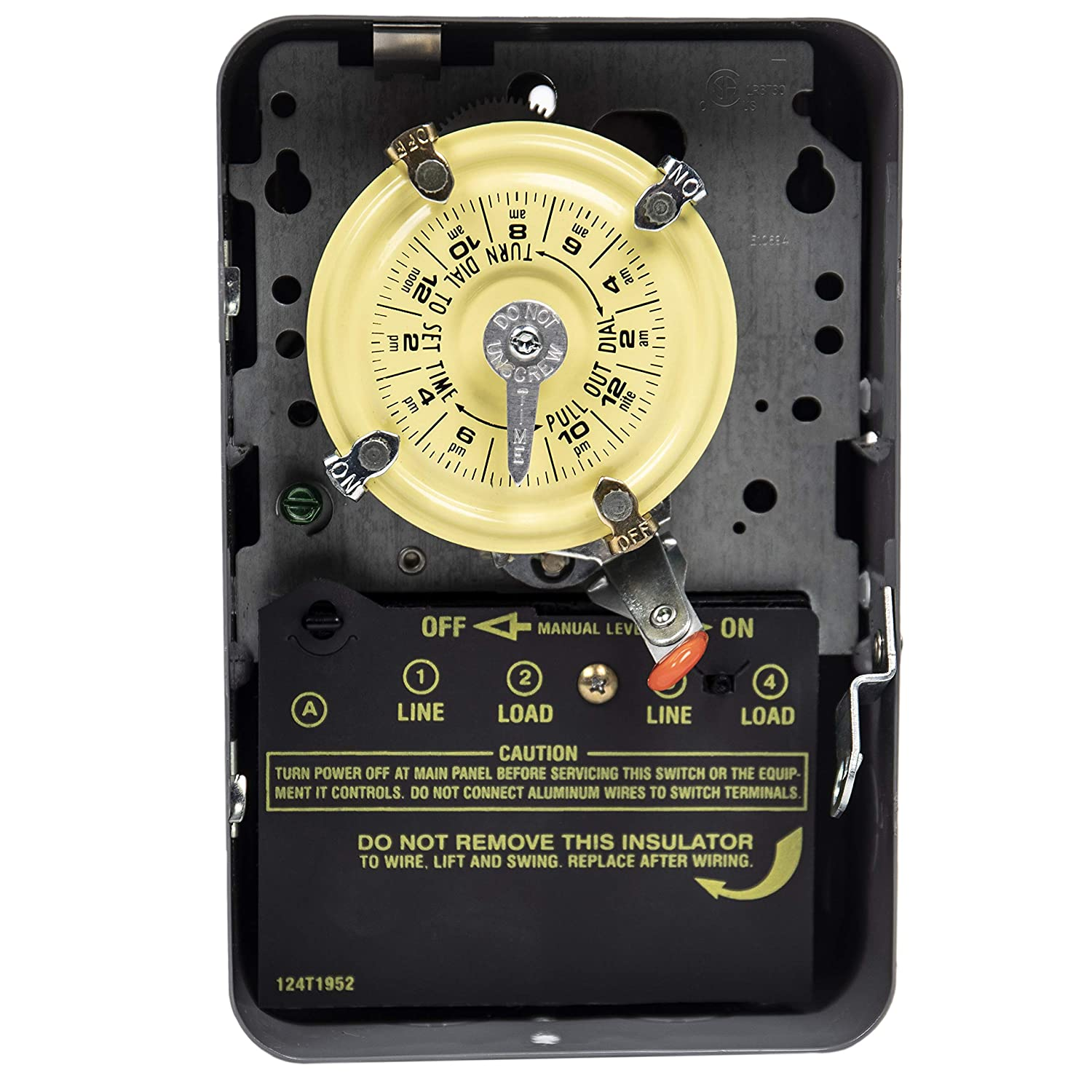 Intermatic WH40 Water Heater Timer, Steel, Gray, 7.75 x 5 x 3 inches,