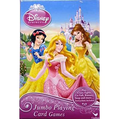 Disney Princess Jumbo Playing Cards - Oversized Kids Card Deck: Toys & Games