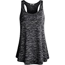 798352ebe24924 Cestyle Womens Sleeveless Scoop Neck Flowy Loose Fit Racerback Tank Top ...
