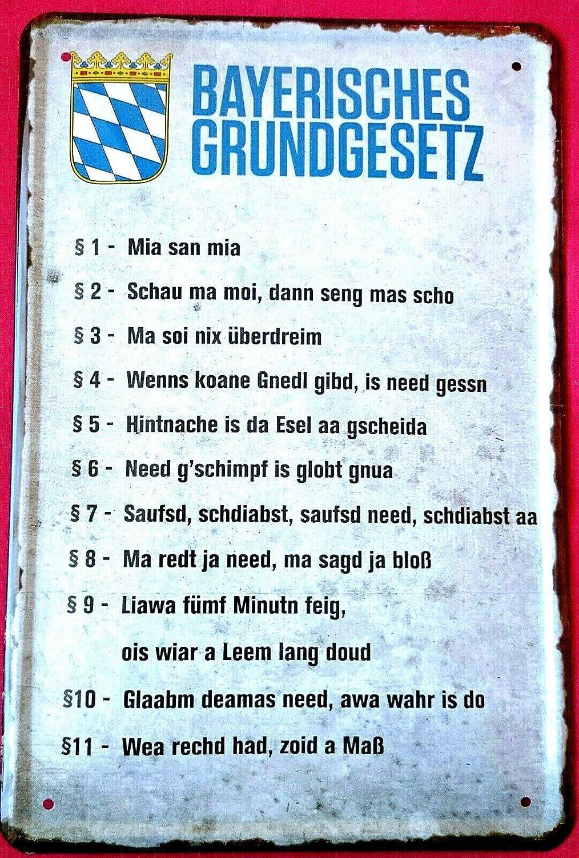 Garten Küche Blechschild 28x12 fun Spruch Wand Deko Bier Bar Kneipe Pub Haus