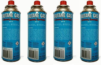 4 x Bombona de gas butano Gas para rellenar 227 g camping gas ...