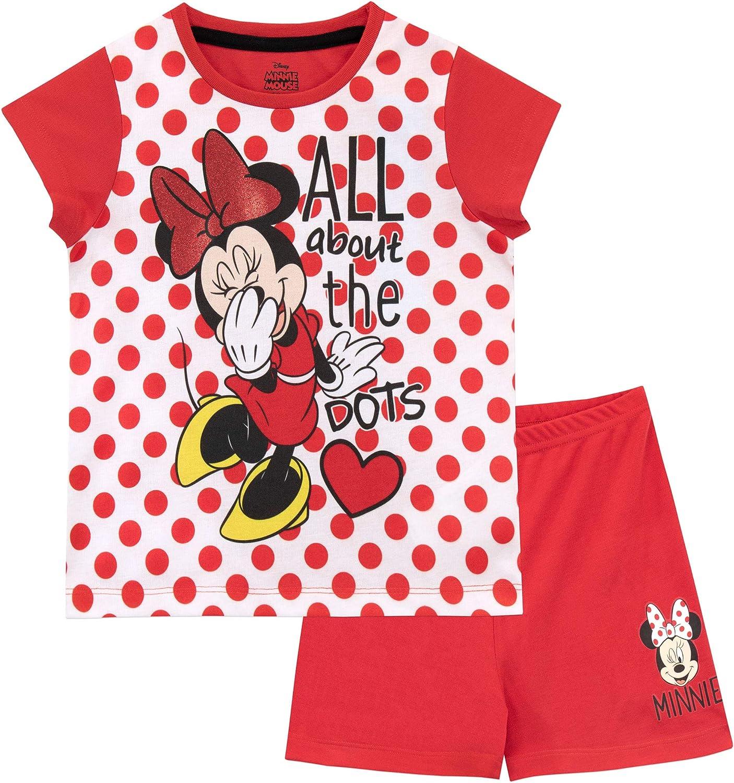 Disney Pijamas de Manga Corta para ni/ñas Minnie Mouse