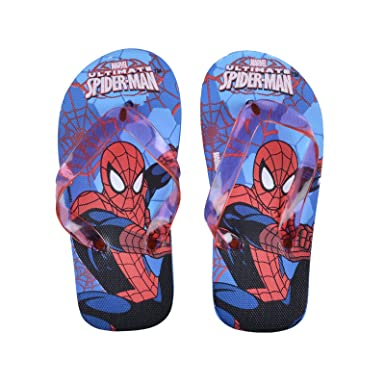 f7b905ca3d50 Kids Spiderman Flip Flops Boys Beach Summer Sandals Marvel Shoes UK Size 12- 13  Amazon.co.uk  Clothing