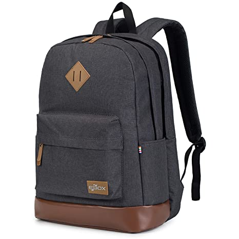 51ca873cb9c5ac EBOX 2-Layer School Backpack Laptop Rucksack Fits 14 15 15.6 Inch Travel  Business Daypack