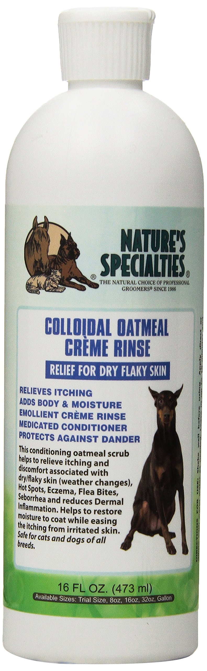 Nature's Specialties Oatmeal Crème Rinse Dog Conditioner, 16-Ounce