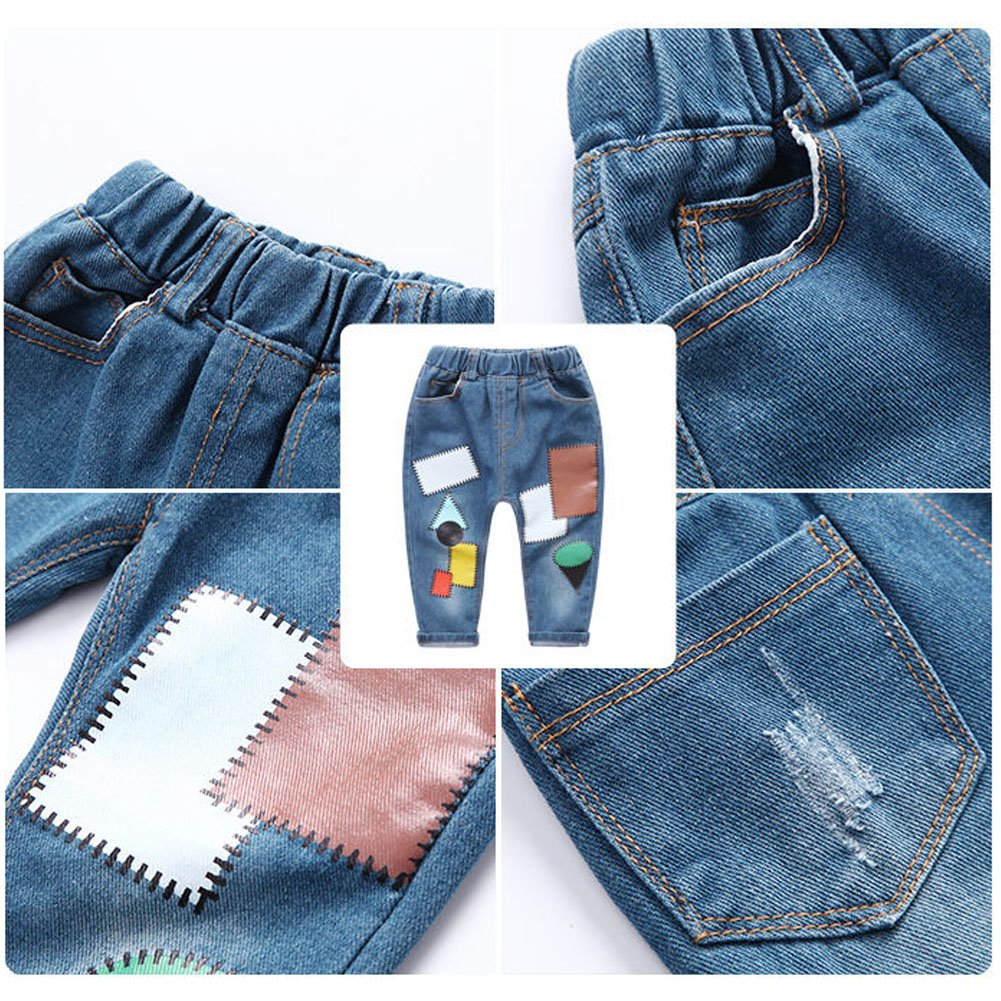 ARAUS Baby Boys Jeans Denim Pants Spring Autumn Trousers for 1-10T