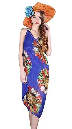 30d74083ca Ladies Beach Sarong Dress Wrap Swimwear Beach Sling Cover Up Scarf Sun  Dresses