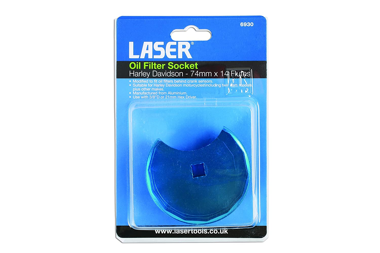Laser Tools 6930 Oil Filter Socket-Harley Davidson 74mm x 14 Flutes
