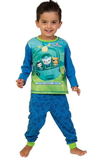 ThePyjamaFactory Octonauts Pajamas Explore - Rescue - Protect Pjs 3 to 6 Years W16 (5T