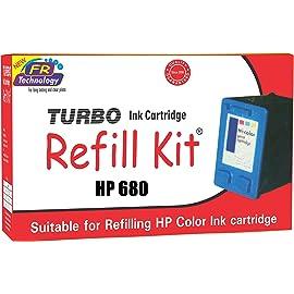 Turbo Ink Cartridge Refill Kit for HP 680 multi coIour