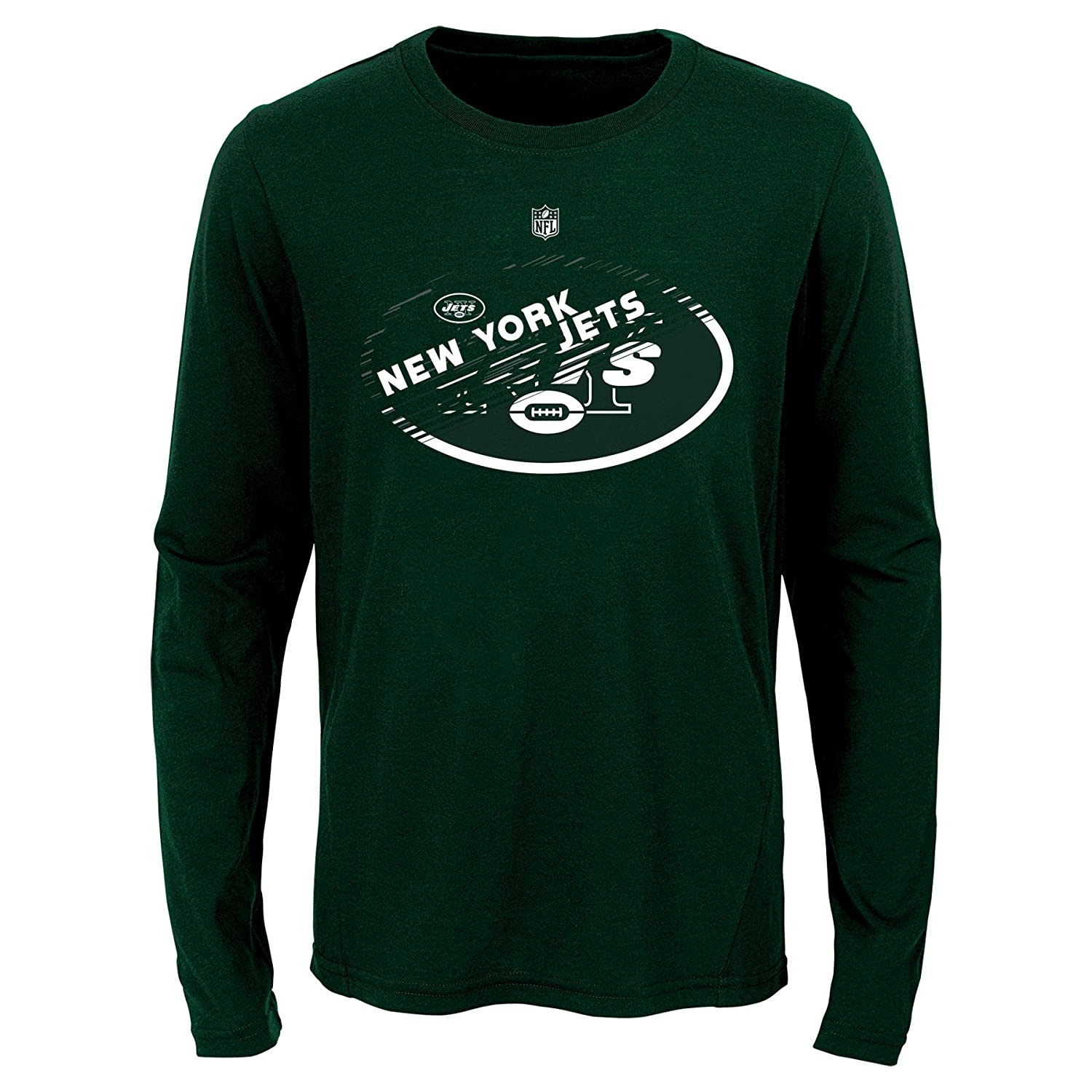 Youth Medium 10-12 NFL New York Jets Youth Boys Flux Long Sleeve Ultra Tee Hunter Green