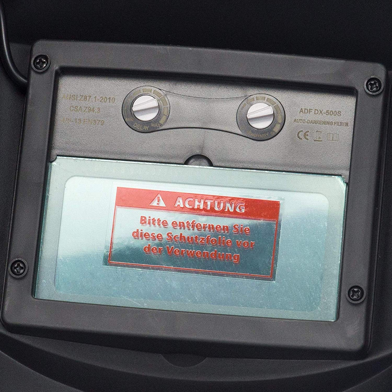 Solarzellen 2 Vorsatzscheiben Schwei/ßschirm SN869 Automatik Schwei/ßhelm