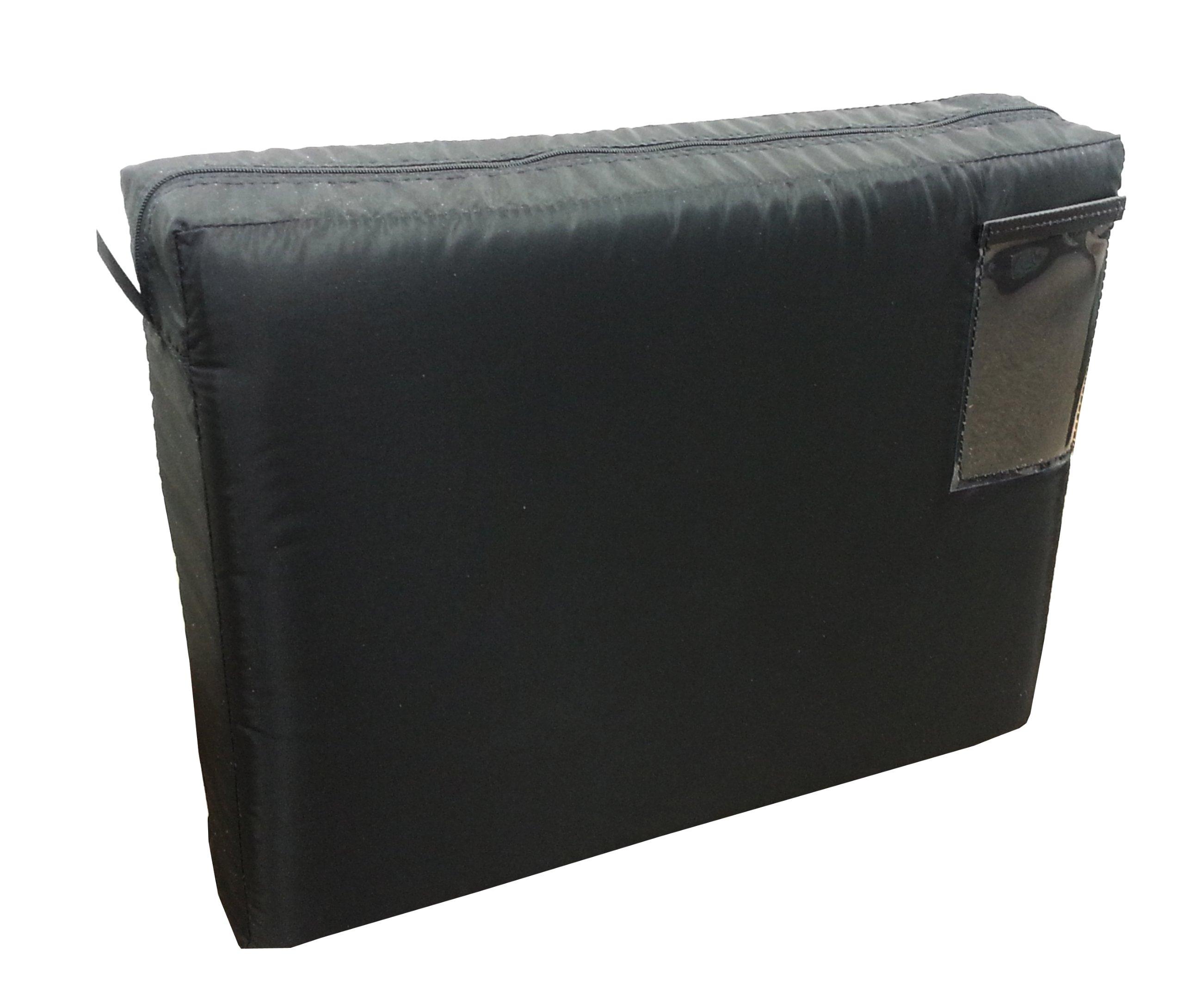 Mailer Transit Sack Expandable Interoffice Mailbag 18w x 14h x 4d Black