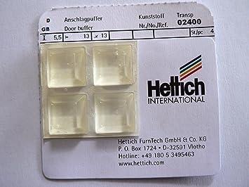 Hettich Anschlagpuffer Gummi transparent, 1313 mm, H: 5,5 mm, 4 Stück, Artikelnr. 2400
