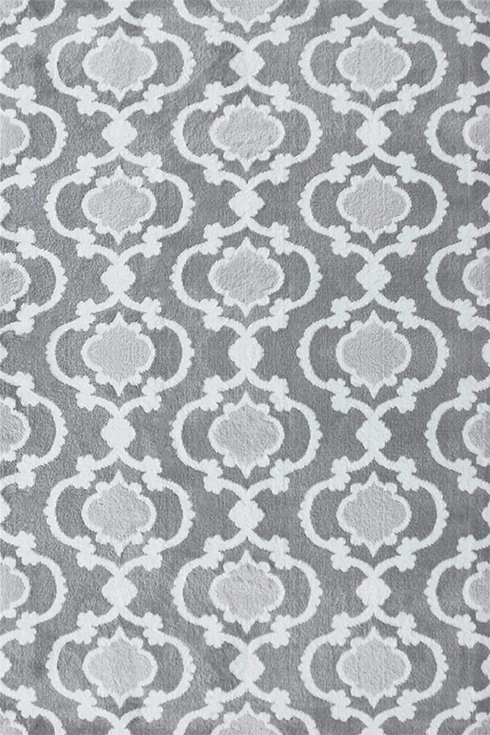 A2Z Rug Geometric Style Grey Trendy 7926 Area Rugs 80x150 cm - 2'6 x5' ft Turkey