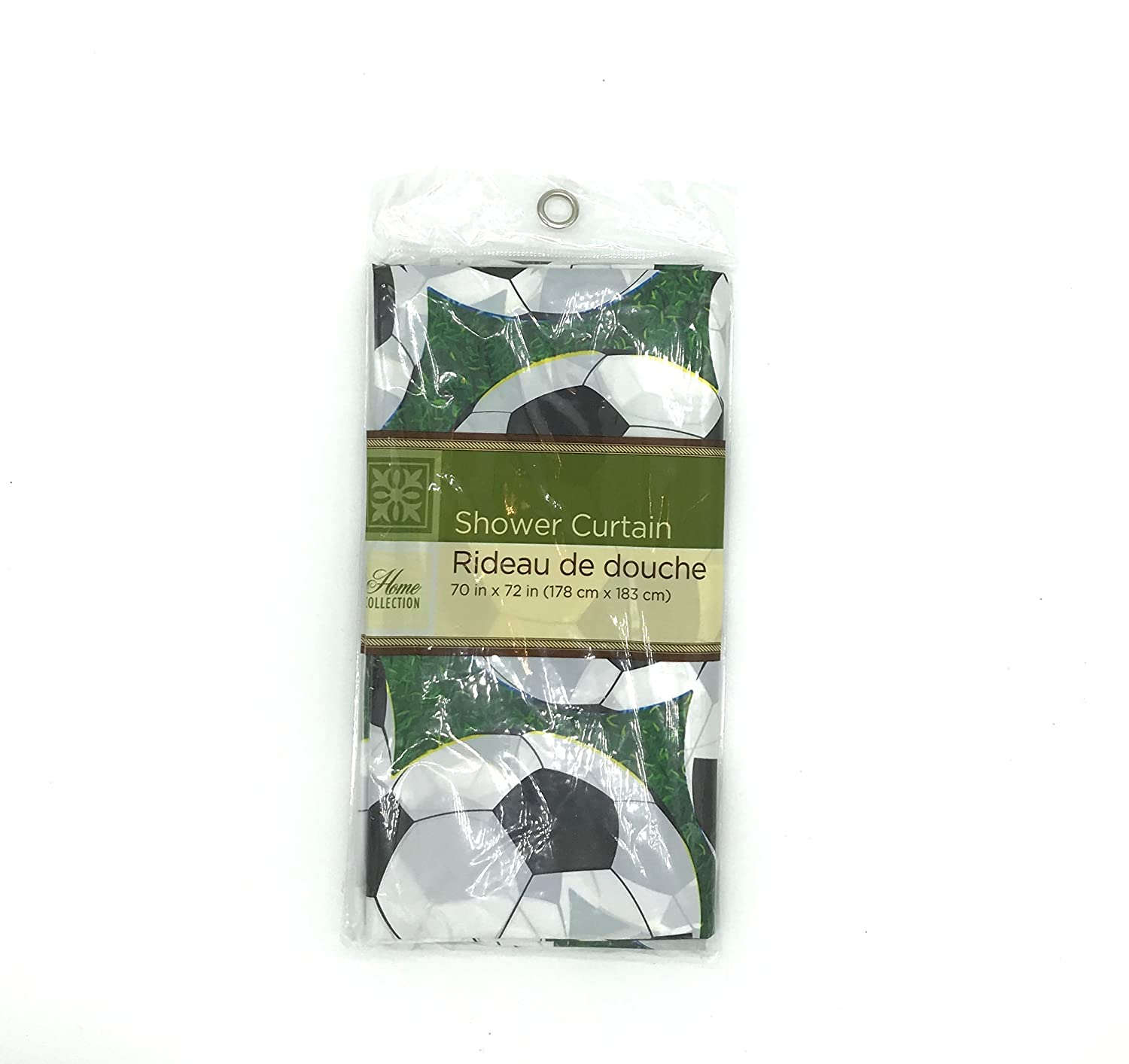 80OFF Soccer Shower Curtain Plastic 70x 72