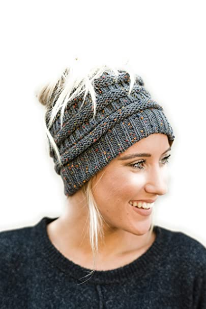 Three Bird Nest Messy Bun Beanies Ponytail Hats Boho Knitted Caps For  Women  Amazon.ca  Clothing   Accessories 2340eaca8a5