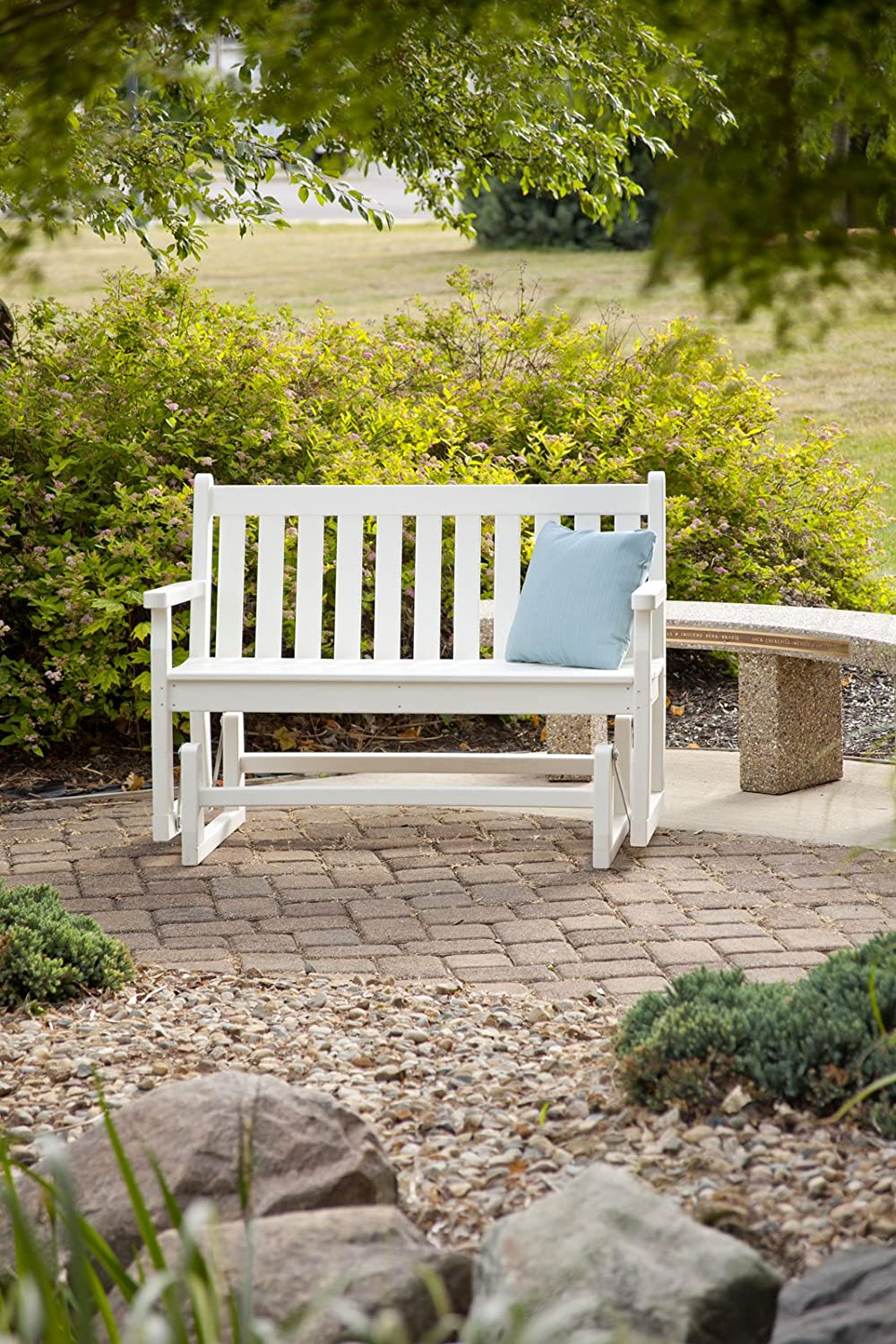 POLYWOOD TGG48WH Traditional Garden 48 Glider, White