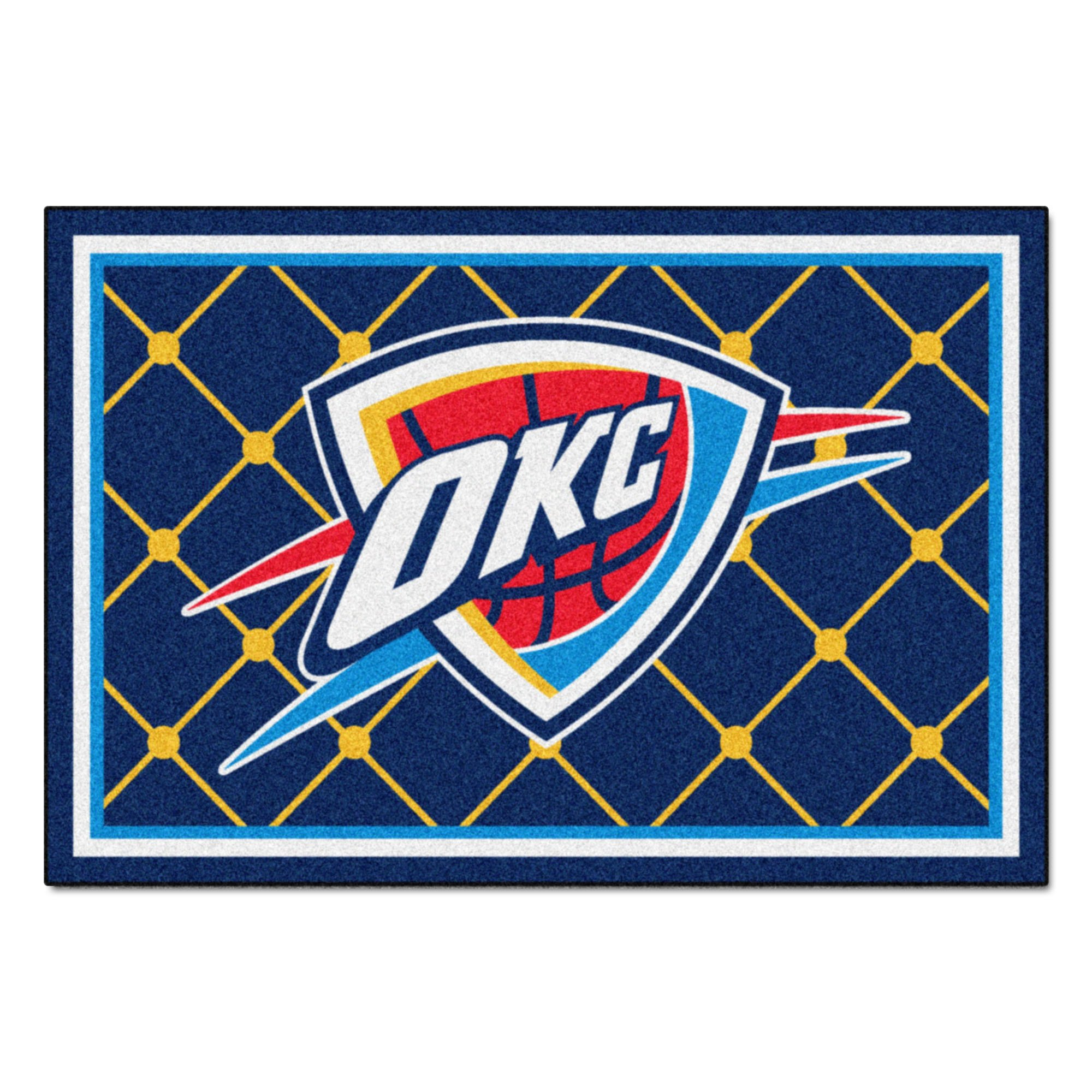 FANMATS NBA Oklahoma City Thunder Nylon Face 5X8 Plush Rug