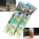 TERA PUMP 2 Pumps Genuine Aquarium Fish Tank Gravel Sand Cleaner with Long Nozzle N Water Flow Controller BPA Free TRFTCLN
