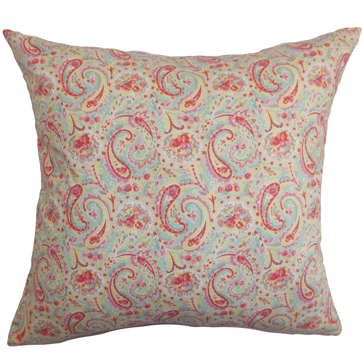 The Pillow Collection Neci Floral Bedding Sham Red Blue Standard//20 x 26,