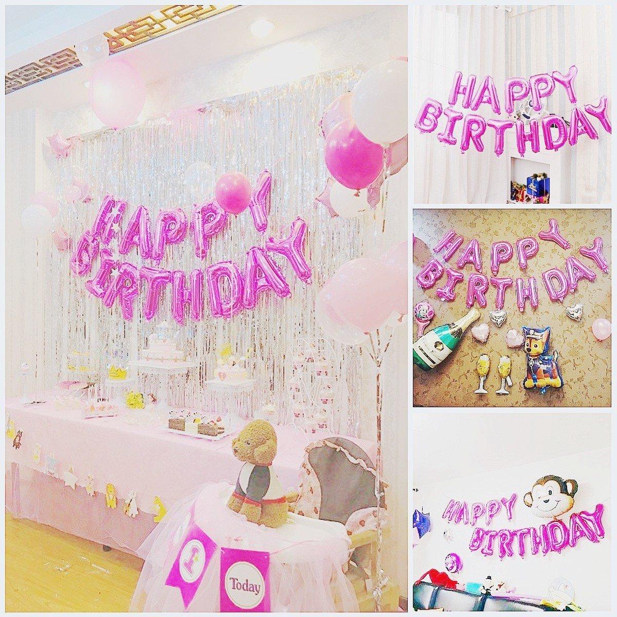 JZK Globos cumplea/ños  Happy Birthday  Feliz cumplea/ños globos feliz cumplea/ños bandera para ni/ños adultos fiesta cumplea/ños decoraciones suministros accesorios