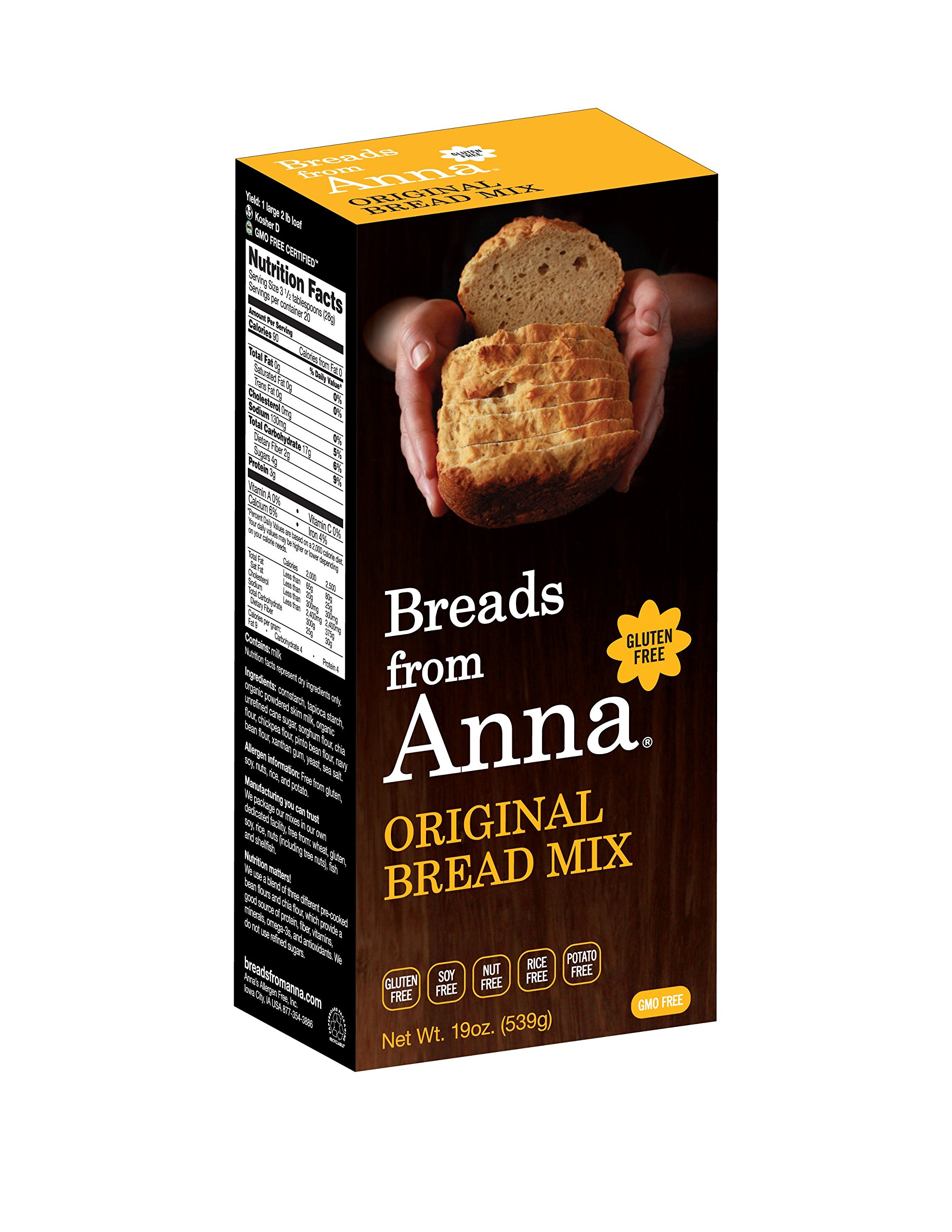 Breads from Anna Bulk 25lbs-Breads from Anna Original Bread Mix Gluten-free, Soy free, Rice Free, Nut Free, Potato Free