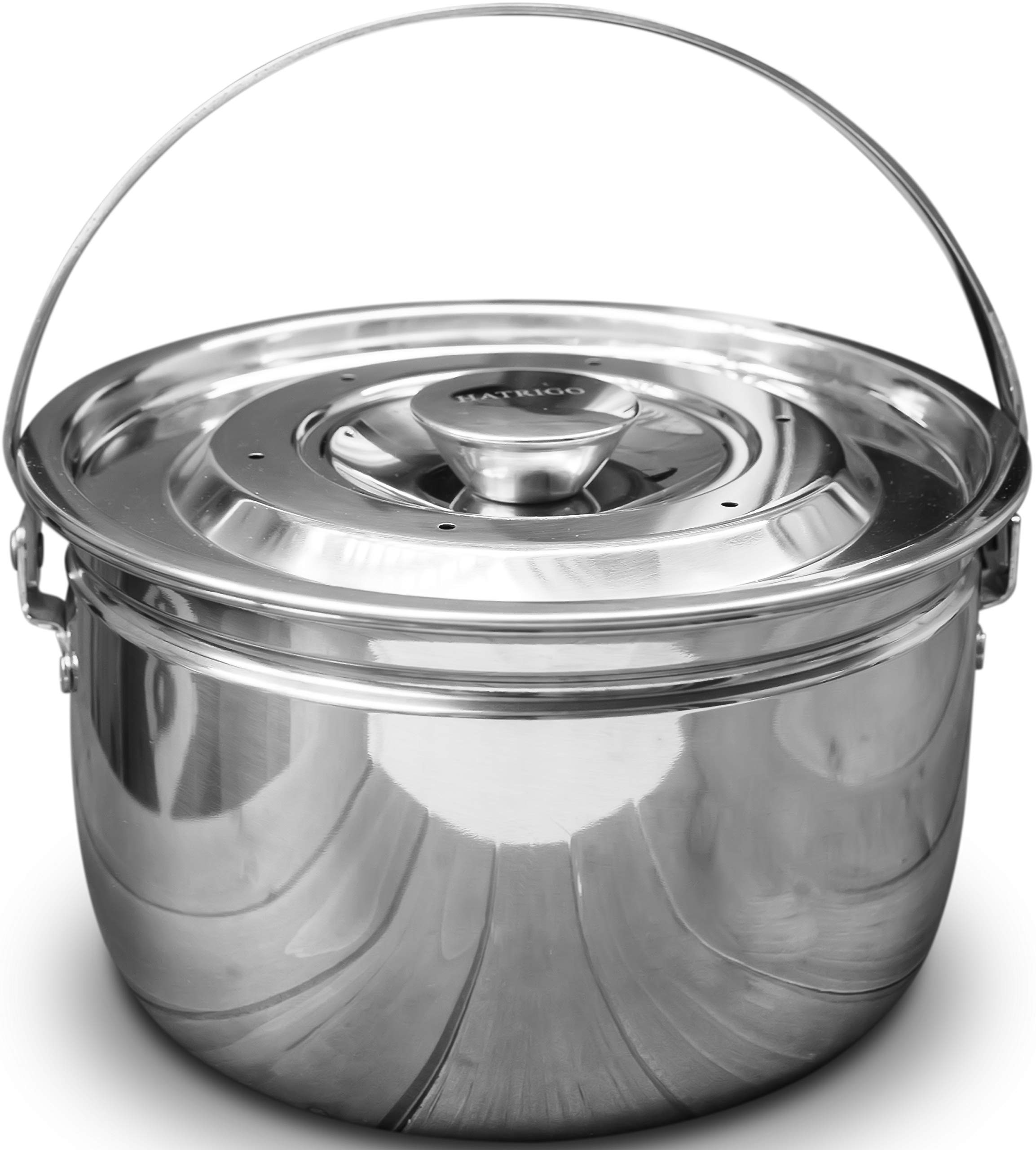 Hatrigo Multi-Purpose Deep Bowl Stackable Steamer Insert Pans for Pot in Pot with Handle Lid, PIP Compatible with Instant Pot Accessories Ninja Foodi 6 qt 8 qt Air Fryer Accessories for Sauce Yogurt
